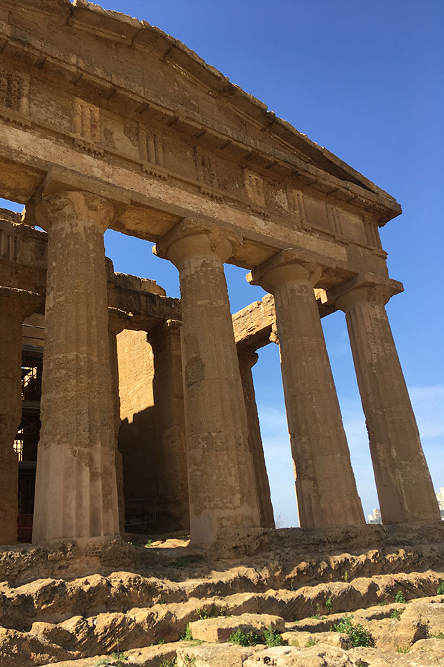 Il Tempio della Concordia, nella Valle dei Templi di Agrigento
