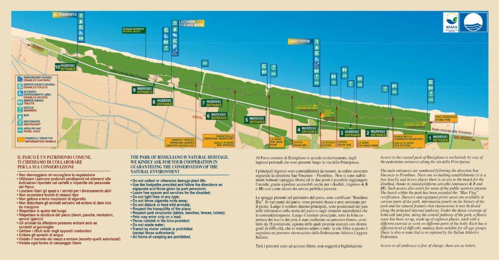 Parco di Rimigliano cartina