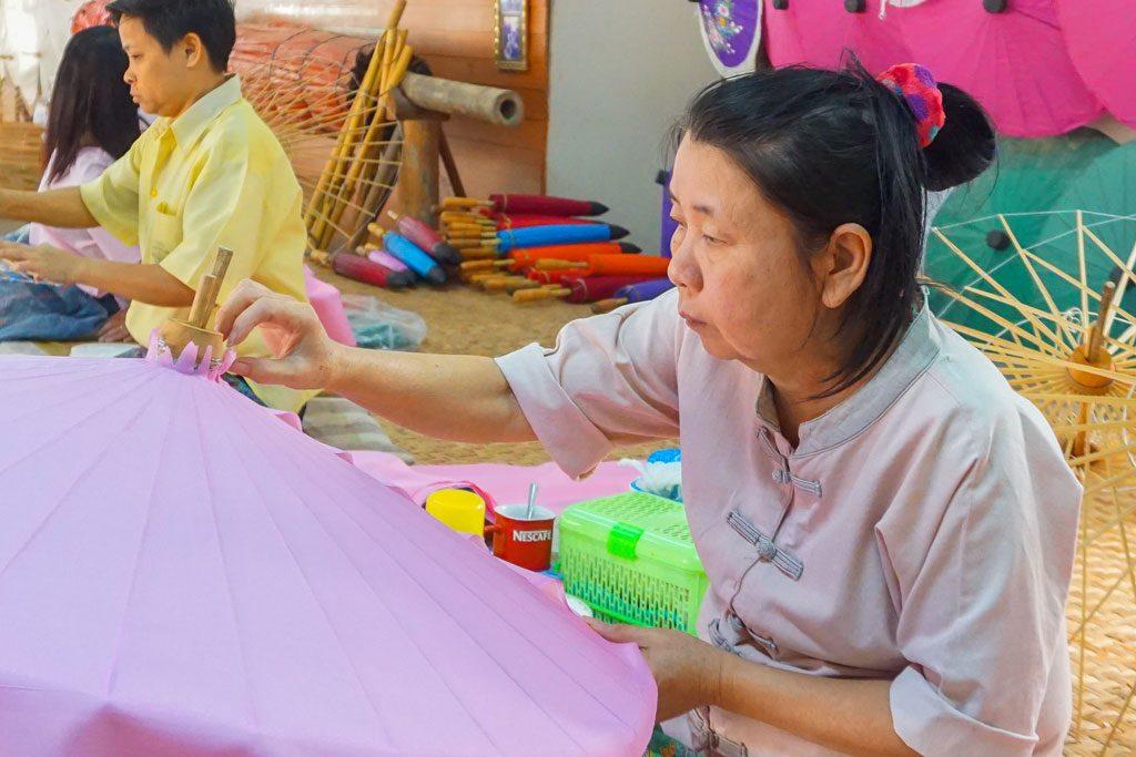 umbrella village chiang mai