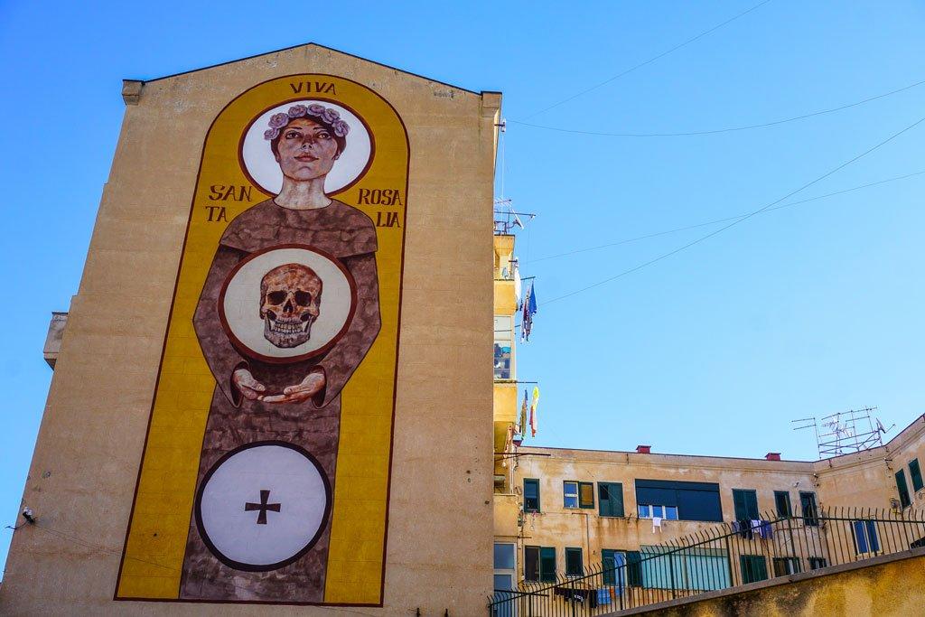 murale santa rosalia palermo