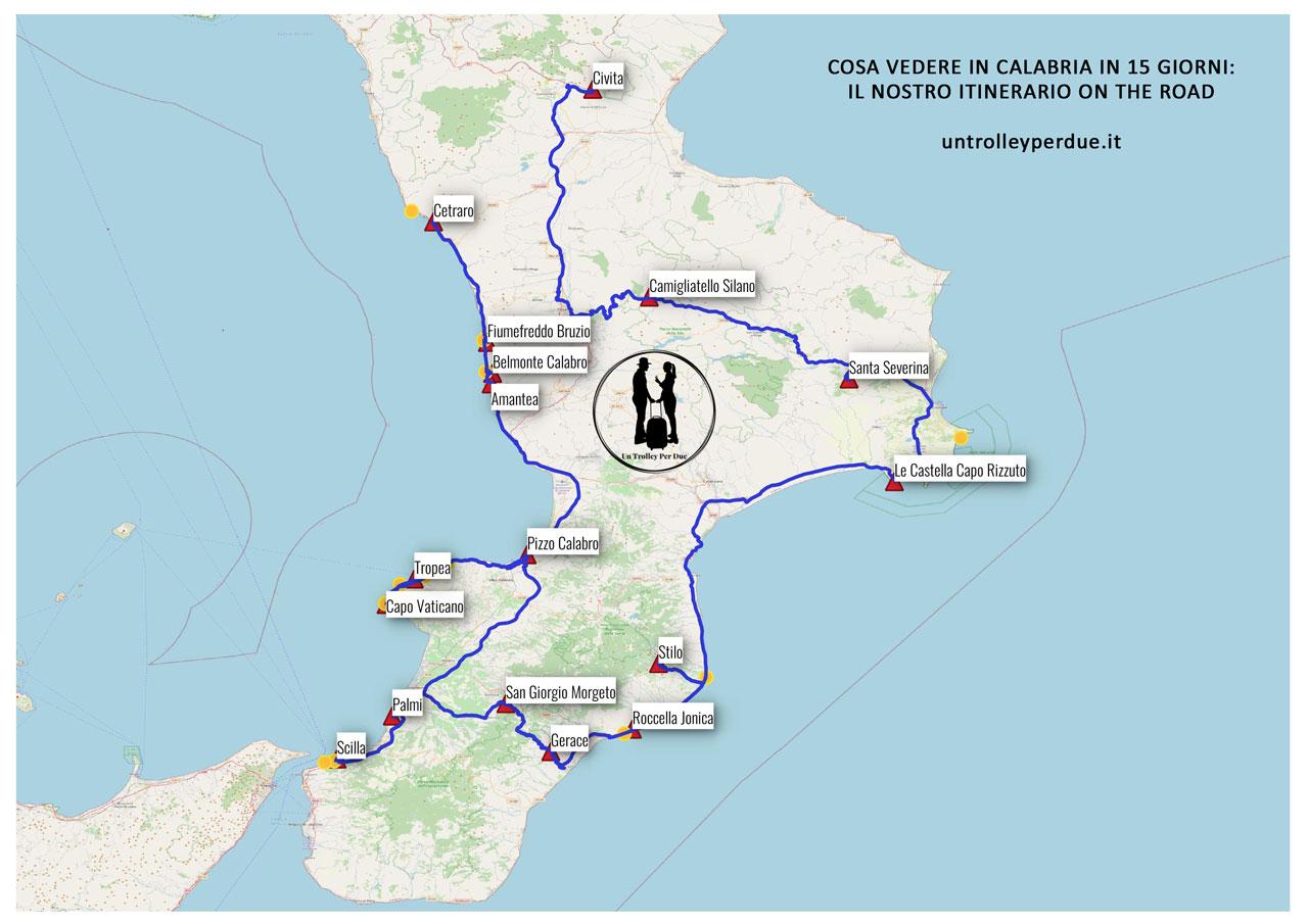 itinerari calabria mappa
