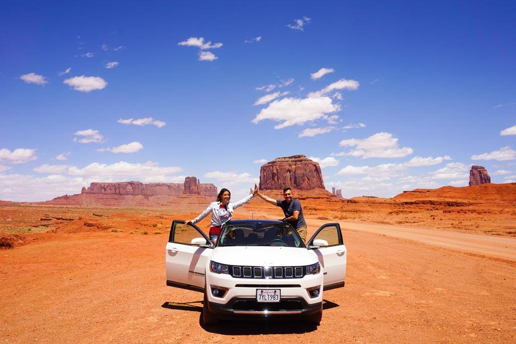 guidare nella monument valley