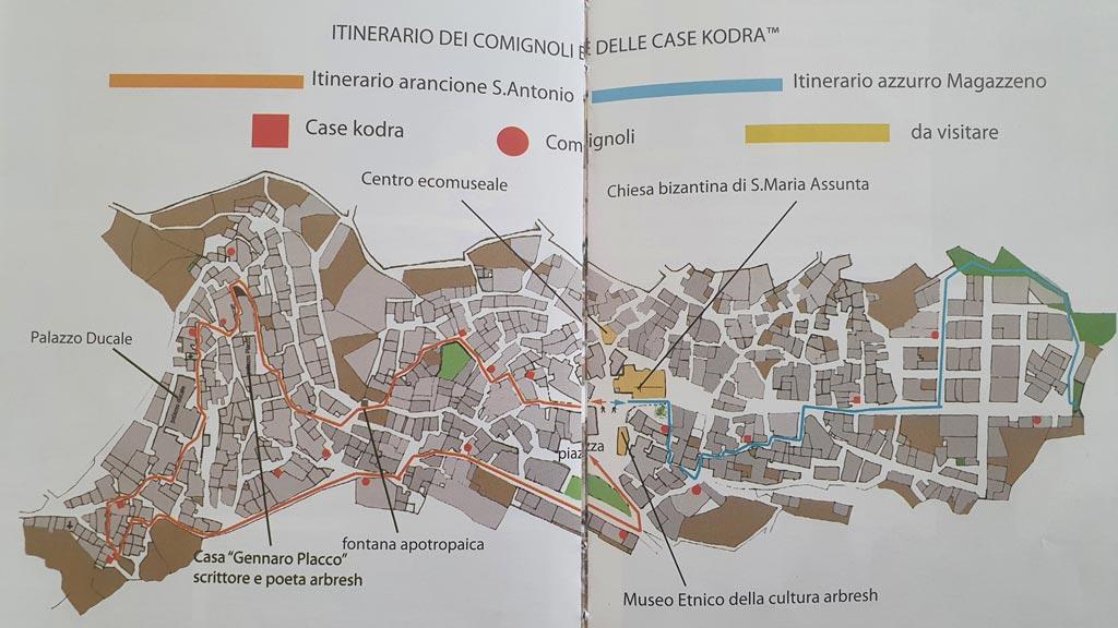 civita mappa itinerari
